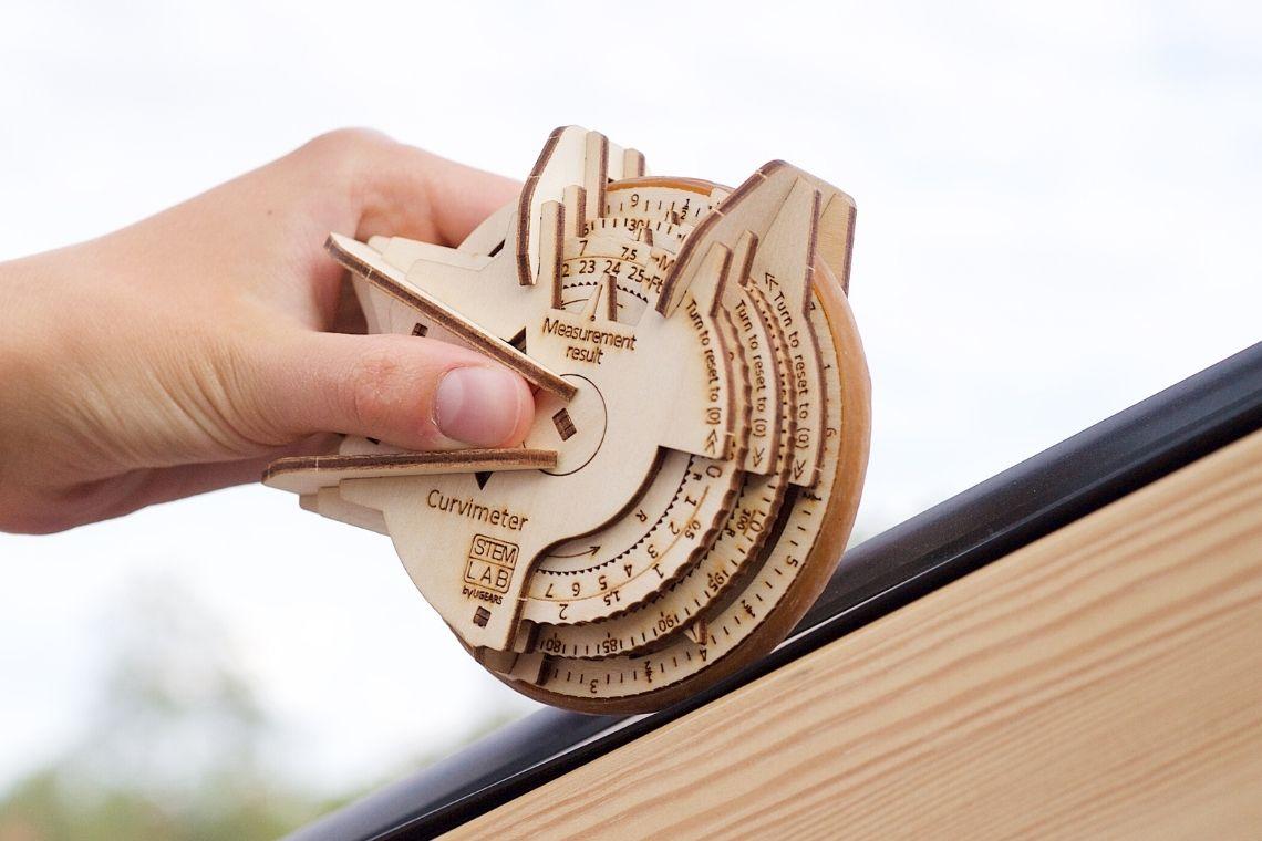 UGears Wooden Mechanical Model STEM Lab Curvimeter